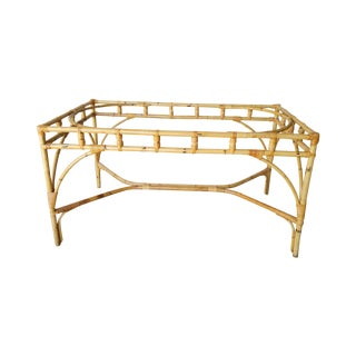 Rattan Chinese Chippendale Dining Table