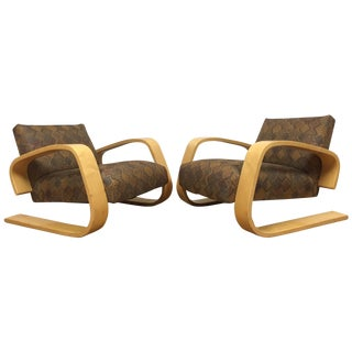 Alvar Aalto for Artek Tank Chairs - A Pair