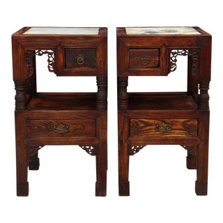 Ming Style End Tables - A Pair
