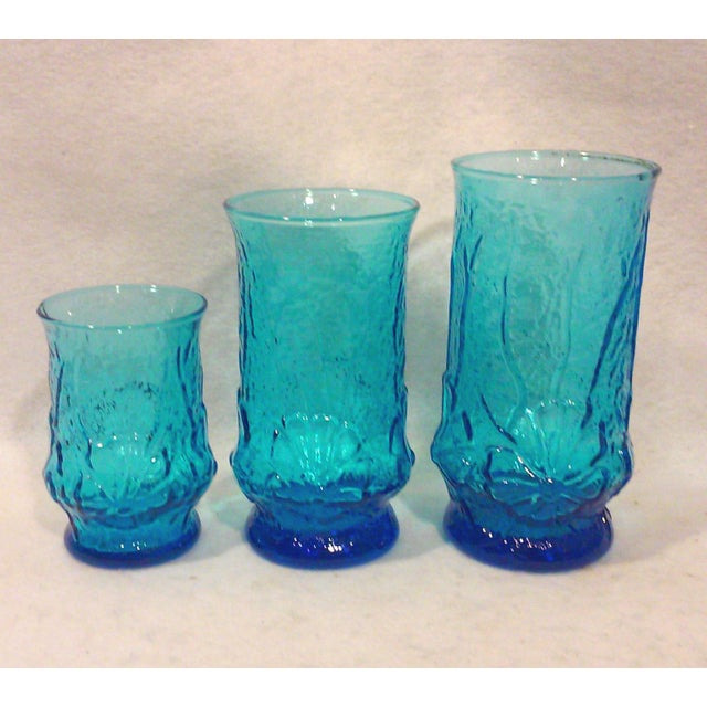 Turquoise Glass Pitcher and Tumblers Set of 17 - Image 5 of 6