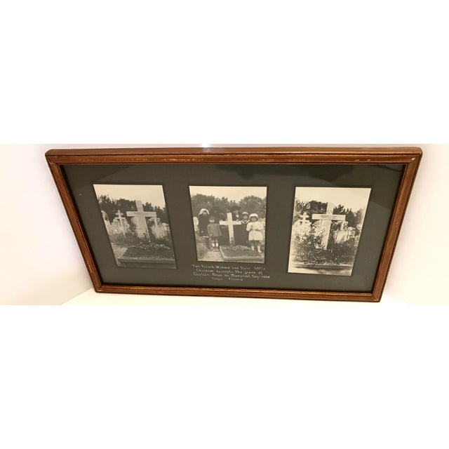 Antique French Funerary Scene Triptych - Image 2 of 7