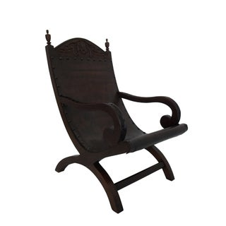Butaque Leather Hand Crafted Sling/Easy Chair