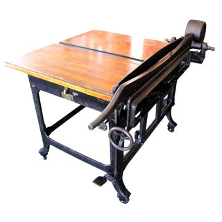 John Jacques & Sons Paper Box Cutting Table