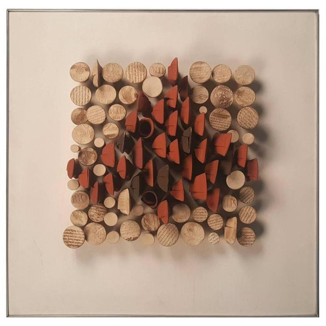 Image of Relique III, Low Relief Abstract Ceramic Wall Sculpture by Will Farrington