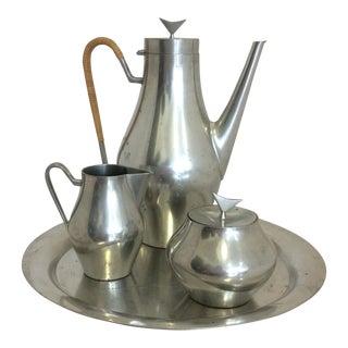 John Prip Modernist Pewter Coffee Service