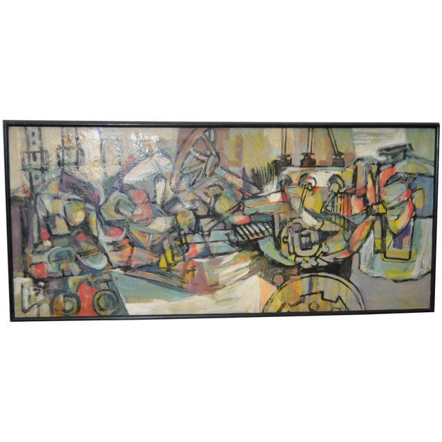 1970's Vintage Abstract Painting - Image 1 of 5