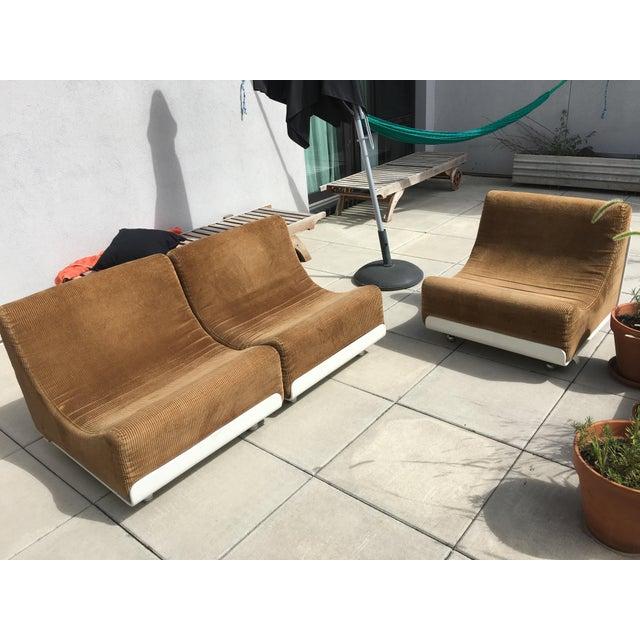 1969 vintage luigi colani sofa units set of 3 chairish. Black Bedroom Furniture Sets. Home Design Ideas