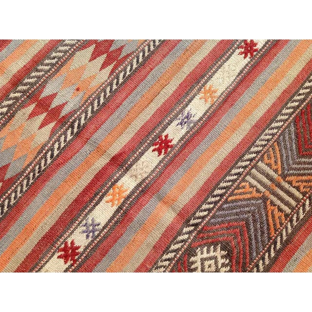 "Vintage Turkish Kilim Rug - 5'4"" x 8'11"" - Image 6 of 6"