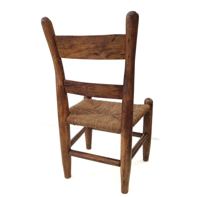 Image of Antique French Farm Child's Chair