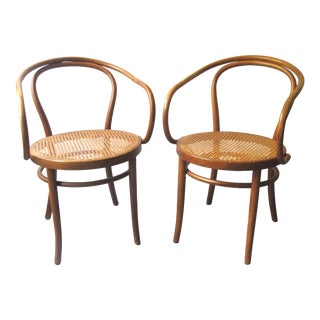 Thonet Mundus 209 Bentwood Cane Chairs- A Pair