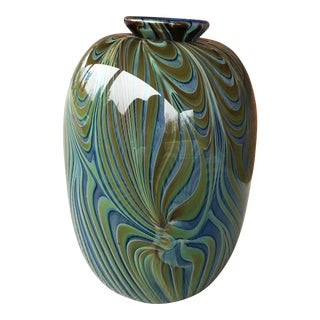 1970s Craig Howell Art Glass Vase