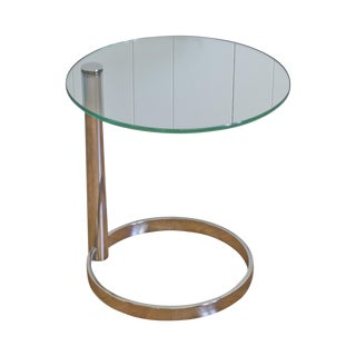 Leon Rosen Pace Collection Chrome Side Table