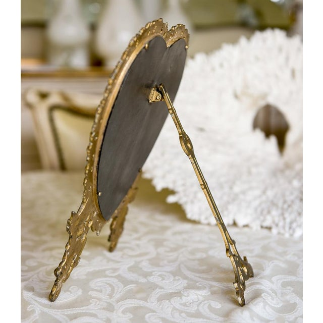 Large Victorian Heart-Shaped Easel Mirror - Image 5 of 6