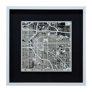 Sarreid Ltd. Denver Framed Map