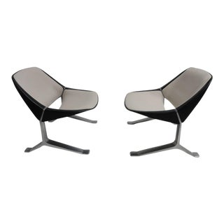 Rare Pair of Lounge Chairs by Sculptor Knut Hesterberg, 1970-1971