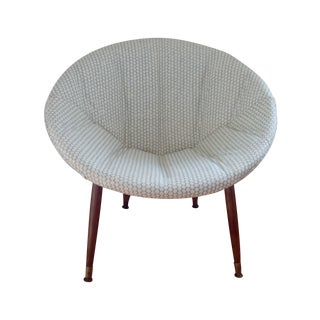 Mid Century Retro Modern Hable Fabric Hoop Chair