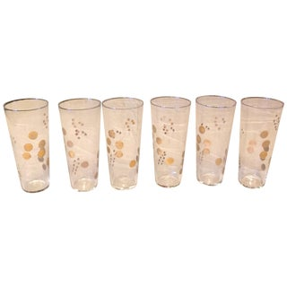Golden Berry Drinking Glasses - Set of 6