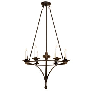"Randy Esada Designs Italian Country ""Tosca"" Wrought Iron Six Light Chandelier"
