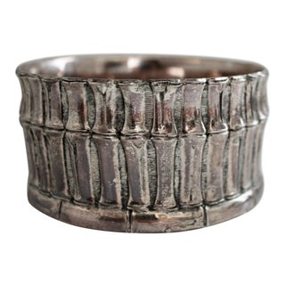 Silver Bamboo Candle Holder