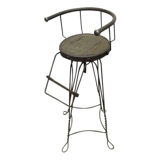 Unique Traditonal Industrial Cast Iron High Stool
