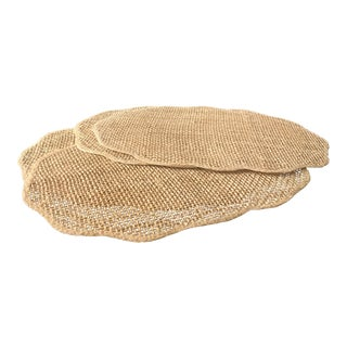 Beige Rattan Placemats - Set of 4