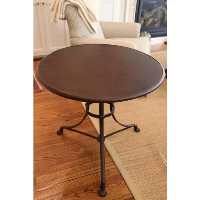 Restoration Hardware Lion's Foot Brasserie Table - Image 2 of 4