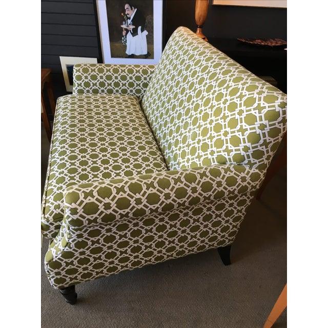 Crate & Barrel Custom Upholstered Settee/Loveseat - Image 3 of 7