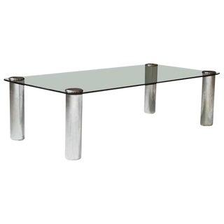 'Marcuso' Table in Smoked Glass & Chrome by Marco Zanuso for Zanotta, circa 1965