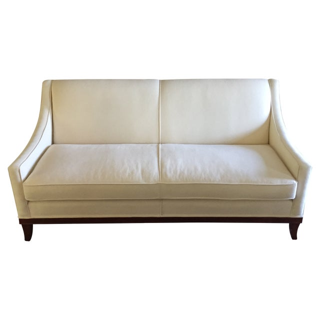 single cushion ivory kravet sofa chairish