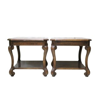 Century Fruitwood Side Tables - Pair