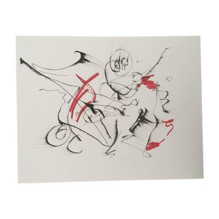 """Erik Sulander """"Abstract #21"""" Musical Composition Ink & Paper Drawing"""