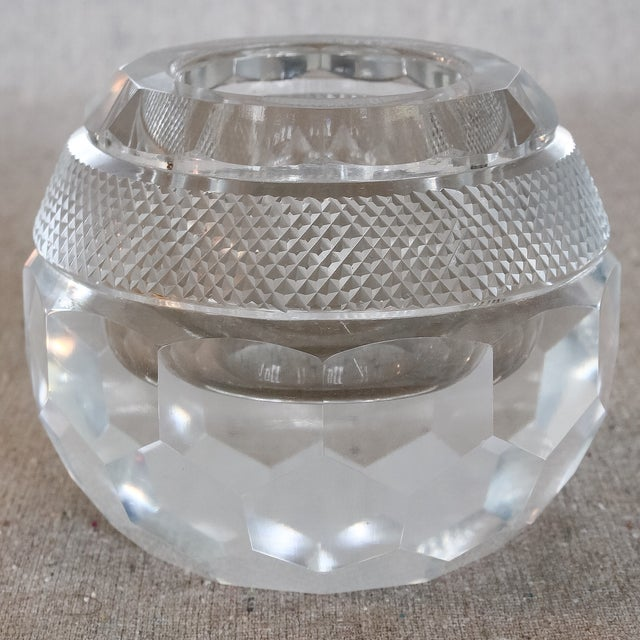 Faceted Hand Cut Crystal Glass Match Striker - Image 2 of 7