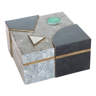 Maitland-Smith Stone & Brass Box