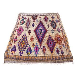 Moroccan Vintage Azilal Rug - 4′11″ × 5′3″