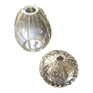 Glass Sea Urchins - A Pair