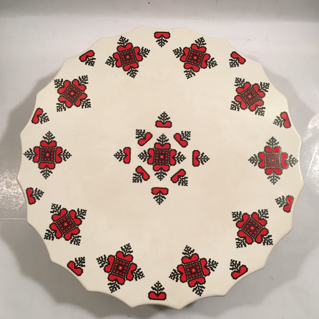 Retro Christmas Ceramic Cake or Cookie Stand - Image 3 of 8
