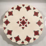 Image of Retro Christmas Ceramic Cake or Cookie Stand
