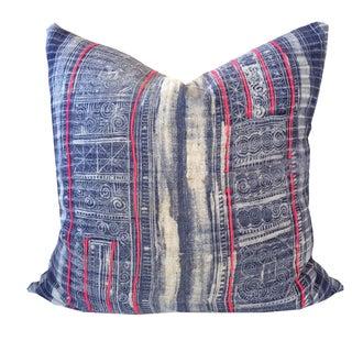 Vintage Hmong Indigo Pillow 20 x 20