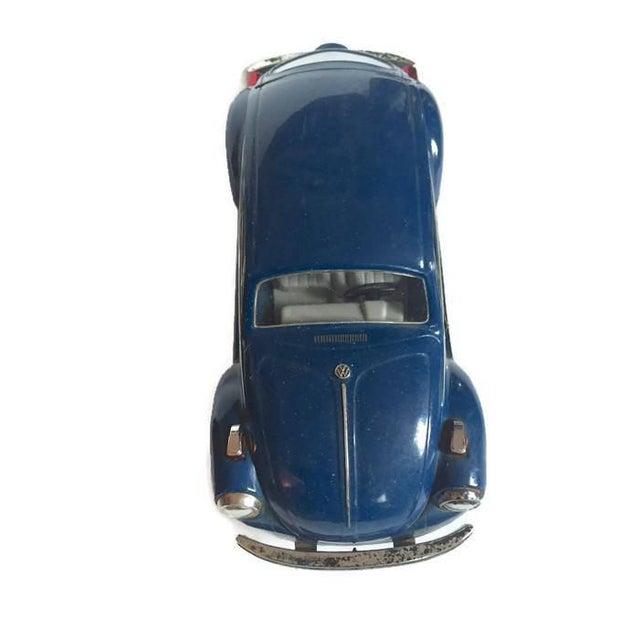 Vintage Volkswagen Beetle Decanter Jim Beam Collectible Metal VW Bug - Image 2 of 10
