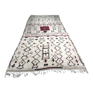 "Vintage Bellwether Rugs Moroccan Azilal Wide Runner - 5'4""x12'"