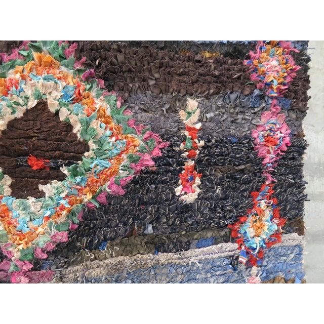"Image of Vintage Moroccan Boucherouite Rug - 7'2"" x 4'10"""
