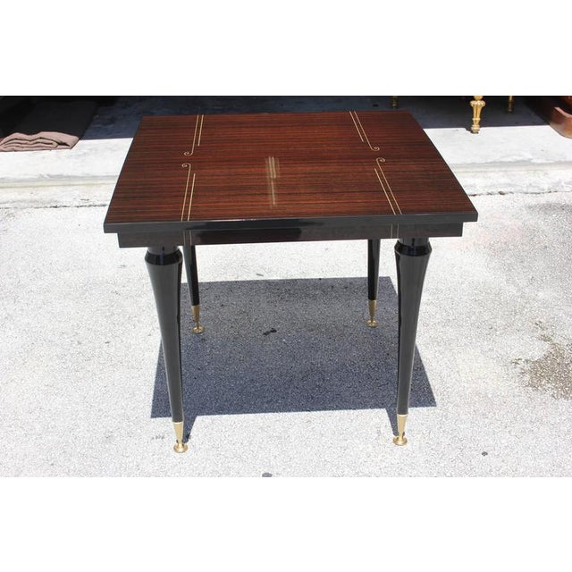 Art Deco Foyer Furniture : French art deco exotic macassar ebony foyer table chairish