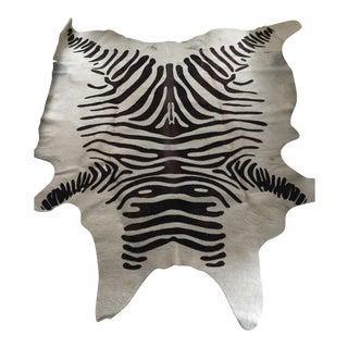 Faux Zebra Hide Rug- 6′ × 7′