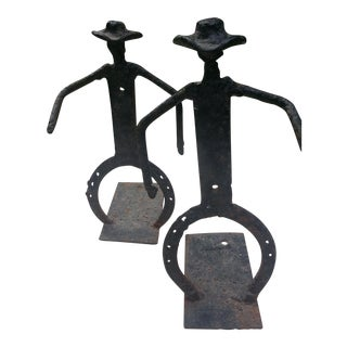 Cast Iron Door Stops - A Pair