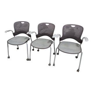 Herman Miller Caper Caster Chairs - Set of 3