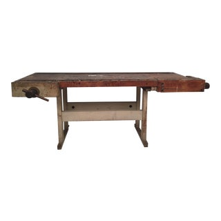 Vintage 1940's Primitive Workbench