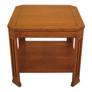 Stickley Arts & Crafts Oak Square Occasional Table