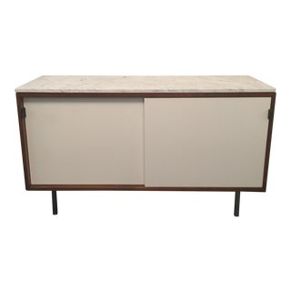 Florence Knoll Bianco Marble Top Credenza