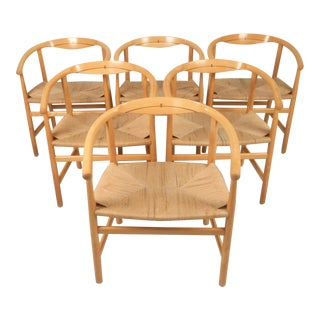 Hans Wegner Model Pp 201 Armchairs - Set of 6