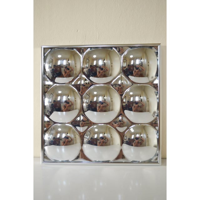 1960s Mid Century Modern Bubble Mirror - Image 8 of 8